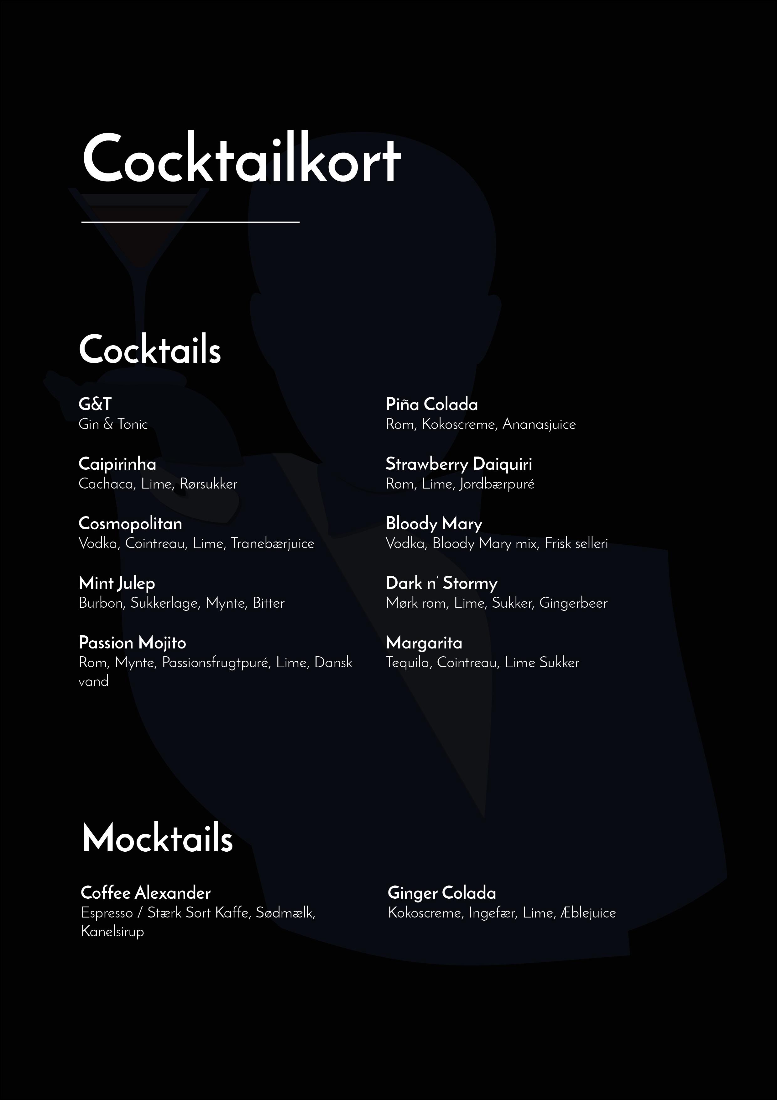 Cocktailkort - lej bartender og få en komplet bar til din næste fest